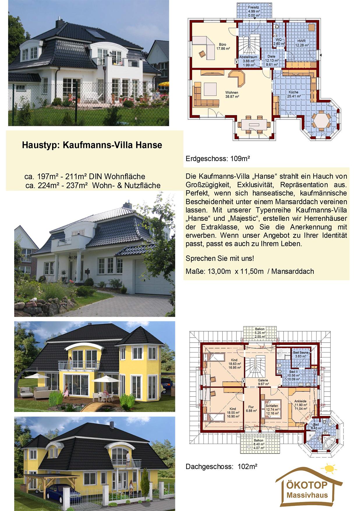 ÖKOTOP-Massivhaus Kaufmanns Villa Hanse