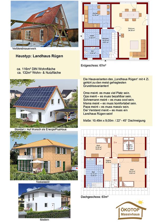 ÖKOTOP-Massivhaus Landhaus Rügen