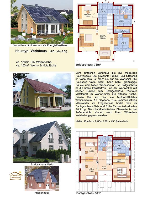 ÖKOTOP Massivhaus GmH -Hauskatalog 2014